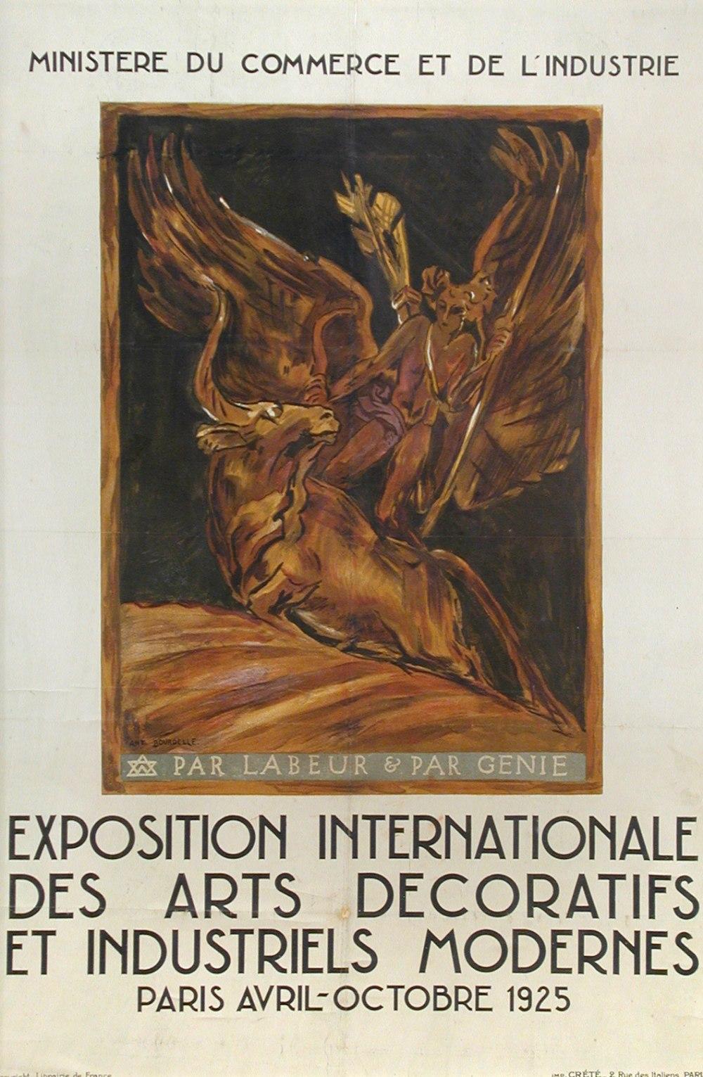 Émile Antoine Bourdelle Paris 1925 poster