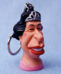 D  spitting image queen keyring royal s