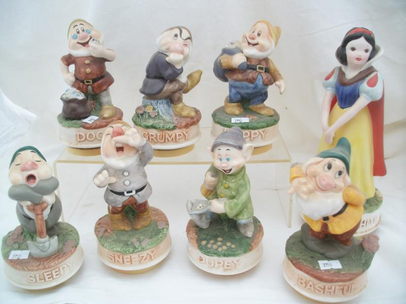 Schmid Snow White & Seven Dwarfs Music Boxes