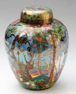 Wedgwood Fairyland Lustre Ghostly Wood Malfrey Vase and Cover