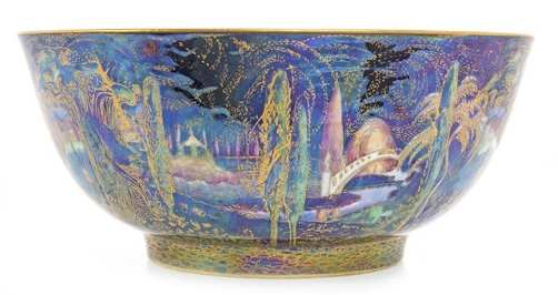 Wedgwood Fairyland Lustre 'Poplar Trees' Pattern Bowl designed by Daisy Makeig-Jones