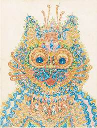 Louis Wain Wide Eyed Cat