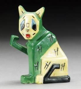Louis Wain Pottery Cat