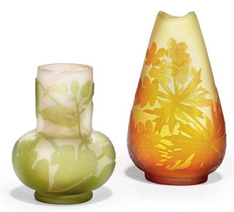 two small galle vases