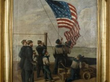 1865 Civil War Painting Our Flag is There at Auction