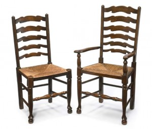 George III ladder back chairs