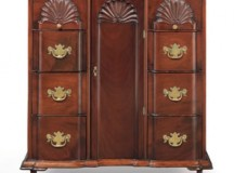 John Townsend Chippendale Block-and-Shell Document Cabinet