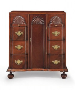 John Townsend chippendale document cabinet