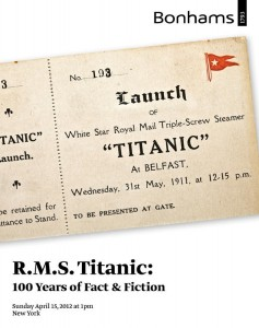 Bonhams Titanic Auction