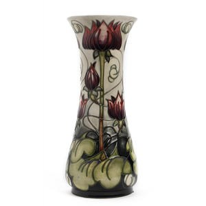A Moorcroft limited edition Appledorn pattern vase by Emma Bossoms