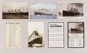 titanic postcards christies