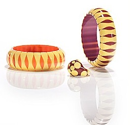 "Two Bakelite ""bowtie"" bangle bracelets"