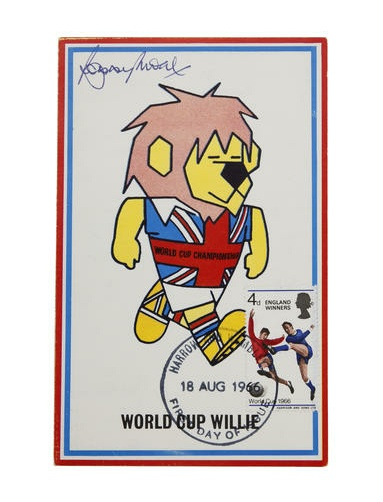 world cup 1966 willie postcard