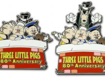 Three Little Pigs 80th Anniversary Disney Pin