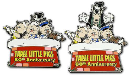 three little pigs disney pin