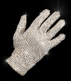 Iconic Michael Jackson white glove white spandex right-hand glove with one button snap closure