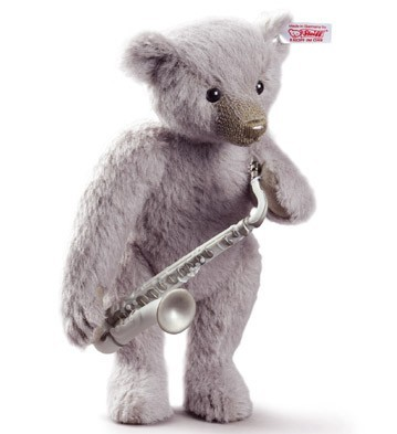 SAXOPHONE PLAYER TEDDY BEAR lladro steiff