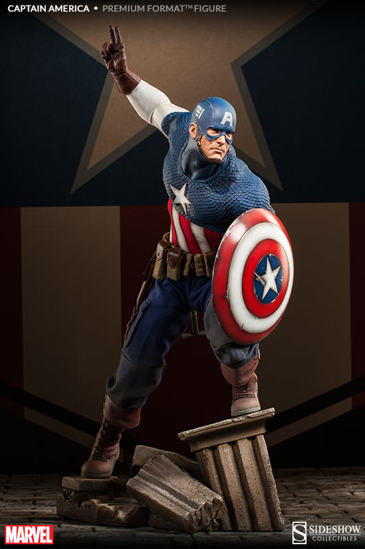 Captain America Allied Charge on Hydra Premium Figure