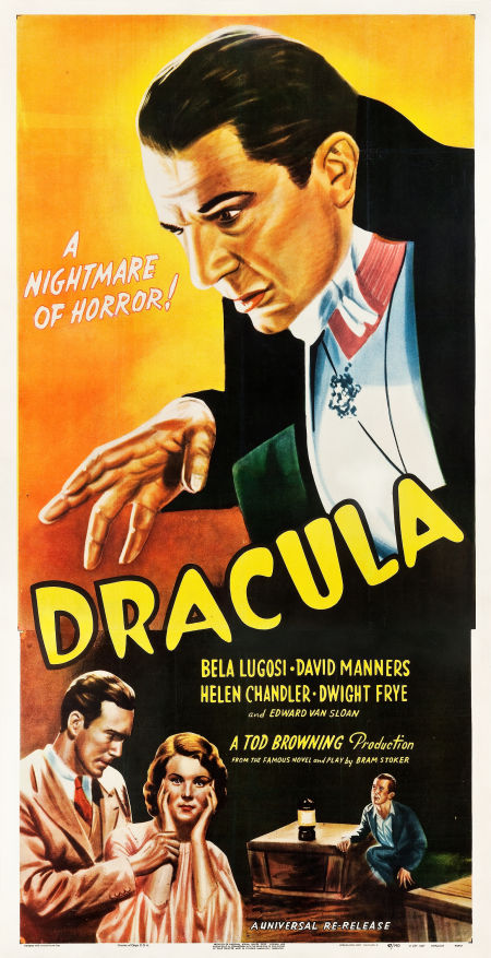 1947 Dracula Three Sheet Poster