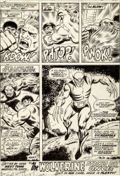 Very First Wolverine Artwork by Herb Trimpe in Incredible Hulk #180 Found