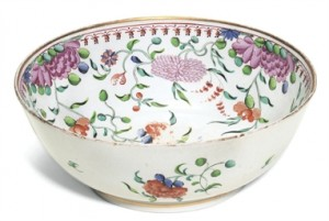 A New Hall Large Bowl, Circa 1790
