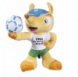 2014 FIFA World Cup Brazil(TM) Fuleco 22cm Plush Mascot