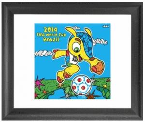Britto Brazil Mascot Framed Print