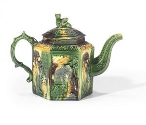 whieldon hexagonal teapot