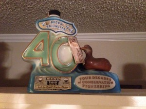 1977 Jim Beam Decanter 40th Anniversary Ducks Unlimited