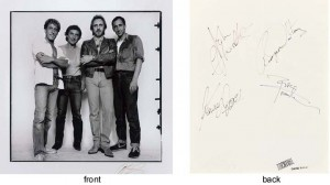 the who live aid autographs