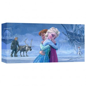 Frozen The Warmth of Love Giclée on Canvas by Jim Salvati
