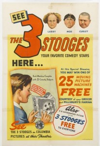 three stooges pillbusry poster
