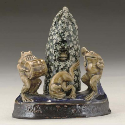 GEORGE TINWORTH FOR DOULTON LAMBETH JACK AND THE GREEN FIGURAL GROUP