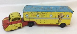1007 Roy Rogers Tin Litho Dodge Truck And Horse Trailer