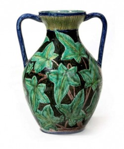 Della Robbia, Decorated By Charles Collis Twin-handled Vaseearthenware with sgrafitto design of ivy glazed in colours9¾ in. (24.8 cm.) high incised mark DR C and painted marks GWSold for £600 ($1,174) February 2007, Christies, LondonImage Copyright Christies.