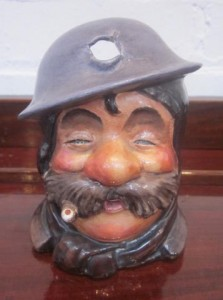 Royal Staffordshire Bruce Bairnsfather Old Bill character jug