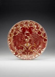 William De Morgan A Ruby Lustre Dish