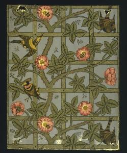 William Morris wallpaper Trellis design