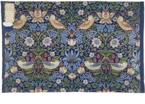 William Morris furnishing fabric Strawberry Thief