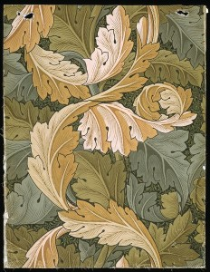 william morris wallpaper acanthus