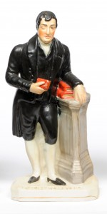 A Staffordshire Pottery Figure of the Rev Christmas Evans, 19th century
