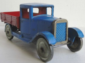 pre-war blue and red Dinky 22 C Motor Truck Hornby Series