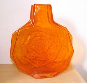 A Geoffrey Baxter for Whitefriars, a large 'Banjo' vase.in TangerineSold on ebay for £1,050 June 2015