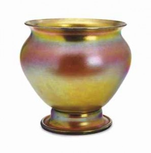 An American Favrile Yellow Glass Vase
