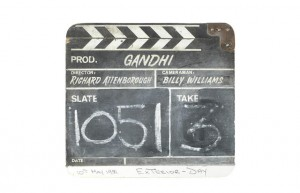 Gandhi A Wooden Clapperboard Used During The Production