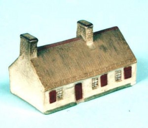 A WH Goss model of Robert Burns cottage