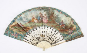 A hand-painted and ivory fan 18th century