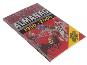 "This Grays Sports Almanac was custom-made by the production for use by Tom Wilson as ""Biff Tannen"", Michael J. Fox as ""Marty McFly"", and Christopher Lloyd as ""Doc Brown"". The Sports Almanac is the single most important prop from the film and in Back to the future Part II, becomes the prop that Marty needs to get his hands on to correct the time line. This book is one of several printed for use during filming, but is a special ""Hero"" version, as it contains the printed page that Old Biff reads from to convince Young Biff of the book's incredible potential. The book is in good condition, with wear consistent with use. For this item, our ScreenUsed COA is co-signed by Bob Gale, producer and writer of the movie."