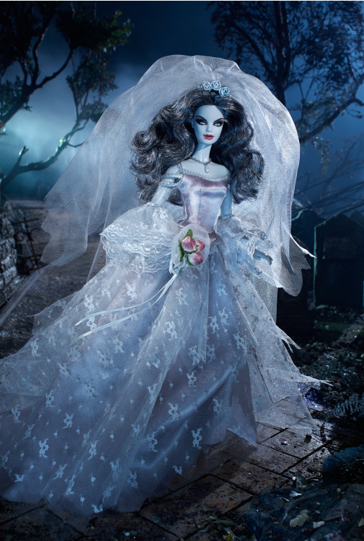 Haunted beauty zombie bride barbie 174 doll completes collection