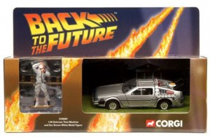 Corgi Back to the Future1:36th scale model which included a Doc Brown figure